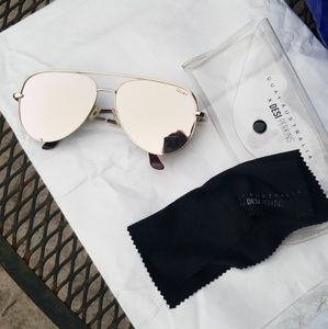 Quay Australia High Key Gold Sunglasses